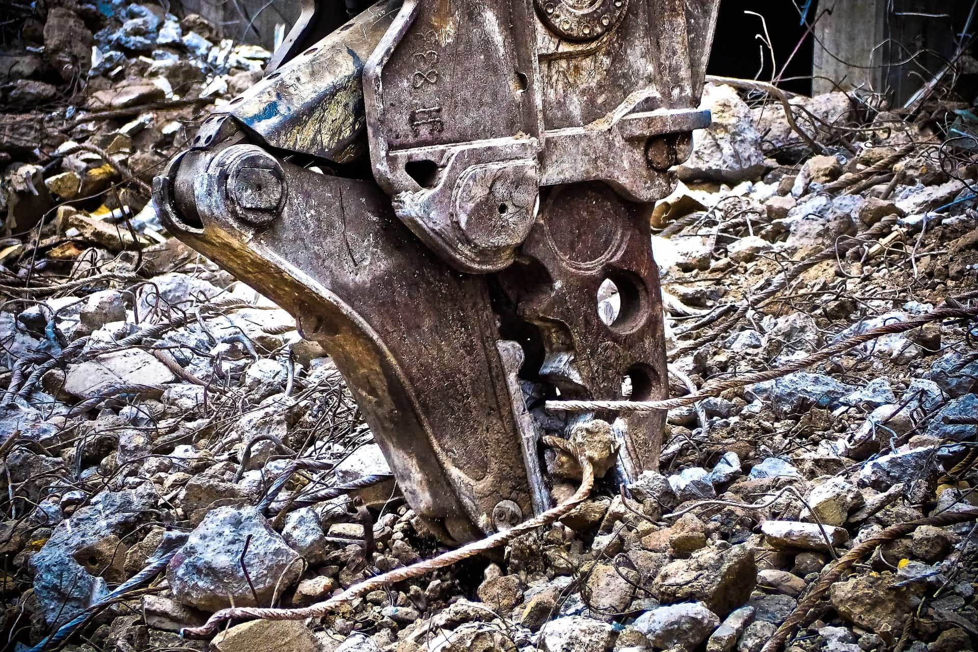 Abriss der Keitumer Therme auf der Nordseeinsel Sylt