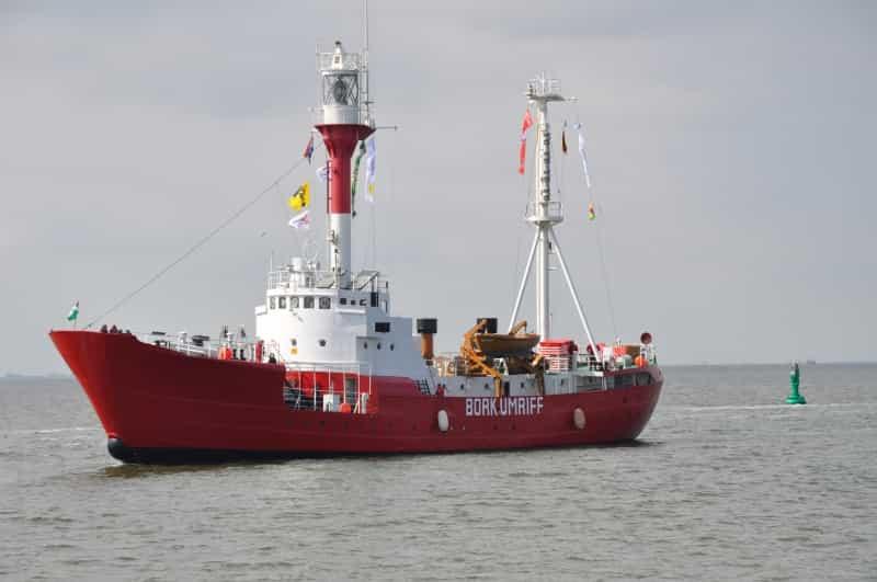Feuerschiff Borkumriff unterwegs vor der Ostfriesischen Insel Borkum