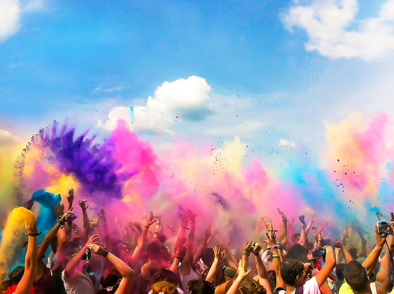 """""""3,2,1…Farbe!!"""" – Holi Festival auf Föhr"""