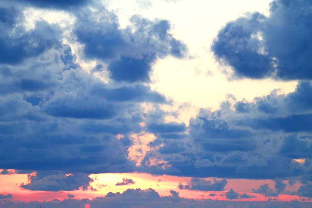Nordseeinseln Allgemeines - Wolken-Himmel Sonnenuntergang