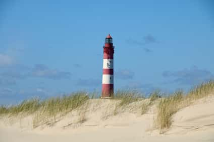 Leuchtturm Nordseeinsel Amrum Kniepsand