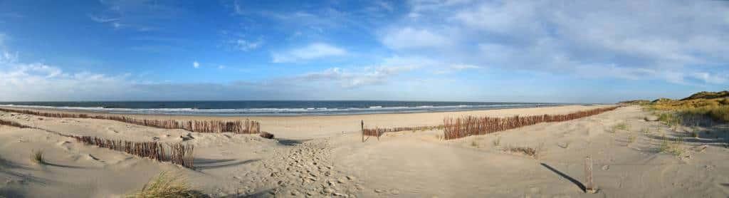 Weiter Strand auf der Nordseeinsel Amrum