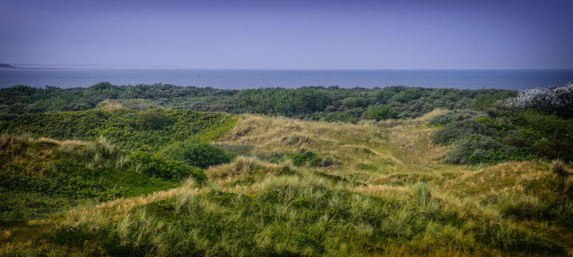 Aussicht Pirolertal auf Nordseeinsel Langeoog