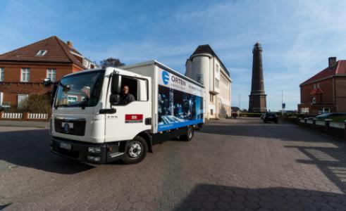 Nordseeinsel Borkum_ E-Truck von Orten Electric im Praxistest