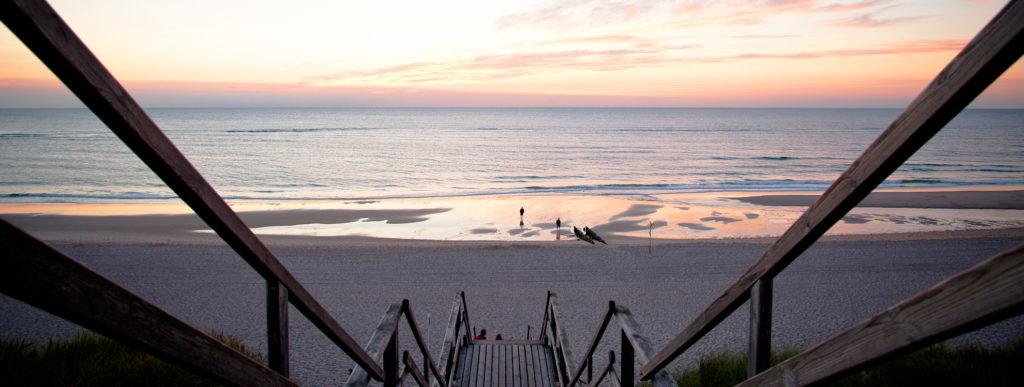 Sonnenuntergang Nordseeinseln Deutschland am Strand