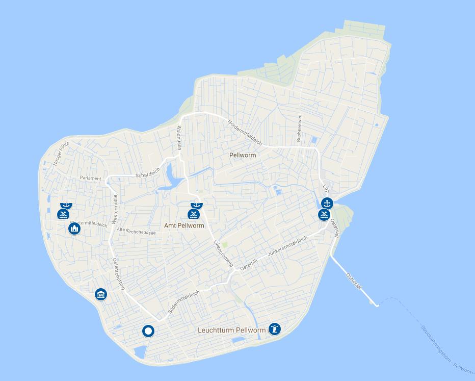 Pellworm Karte.Nordseeinseln Karte Karten Ostfriesische Nordfriesische