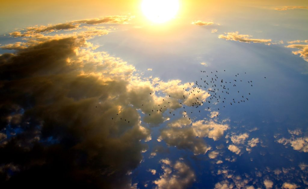 Nordseeinseln Urlaub - Himmel über ostfriesischer Insel Borkum