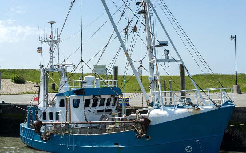Nordstrand Fischkutter am Kai