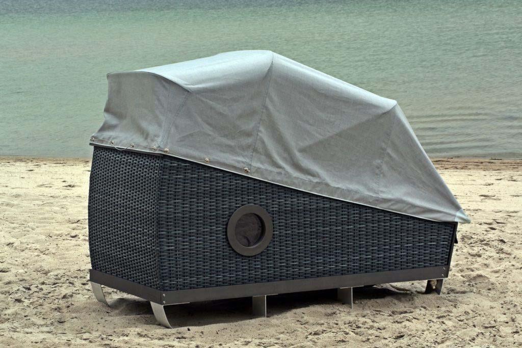 Nordseeinsel Urlaub im Schlafstrandkorb auf Föhr