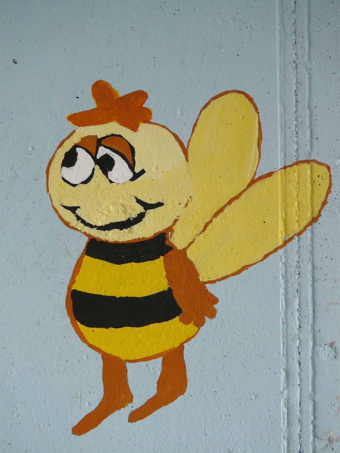 Graffiti von der Biene Willi